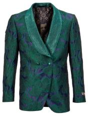 Tuxedo Jacket with Floral