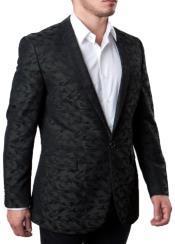 Camouflage Slim Fit Blazer