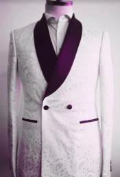 Button Shawl Lapel Suit
