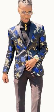 - Floral Blazer Matching