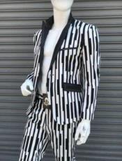 White Gangster Stripe -