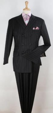 Suit - Black Pinstripe