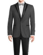 Black Medium Grey Wool