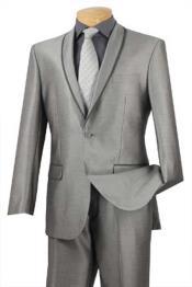 Trimmed Grey Tuxedo Prom