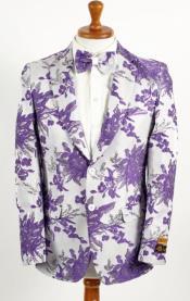 Button White ~ Lavender