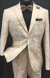 Gold Tuxedo With Matching