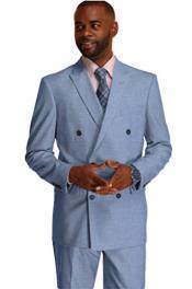 Suit Sky Blue Pinstripe