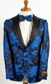 Blue 2 Button Floral