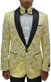 Gold Tuxedo Suit -