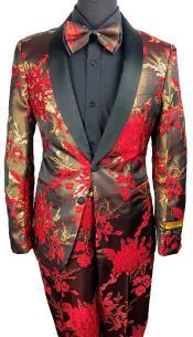 Prom Tuxedo in Red