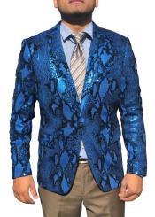 - Snakeskin Jacket Blue