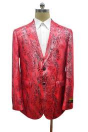- Snakeskin Jacket Red