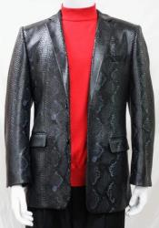 - Snakeskin Jacket Black