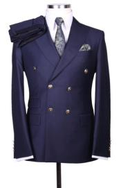Blue Double Breasted Blazers
