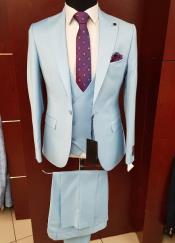 Button Blue Suit