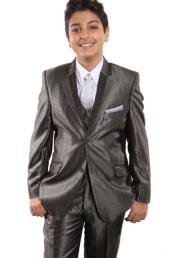 + Boys Taupe Suit