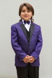 + Boys Purple Suit