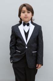 + Boys Black Suit