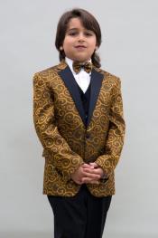+ Boys Gold Suit