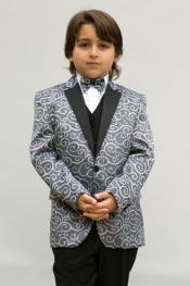 + Boys Silver Suit
