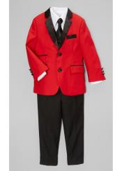 + Boys Red Suit