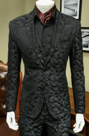 3 Pieces Black Suit