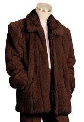 Fur 3/4 Length Coat