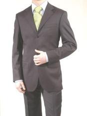 Mens Charcoal Color Pinstripe Suit