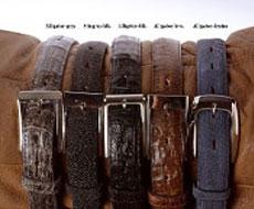 exotic skin belts