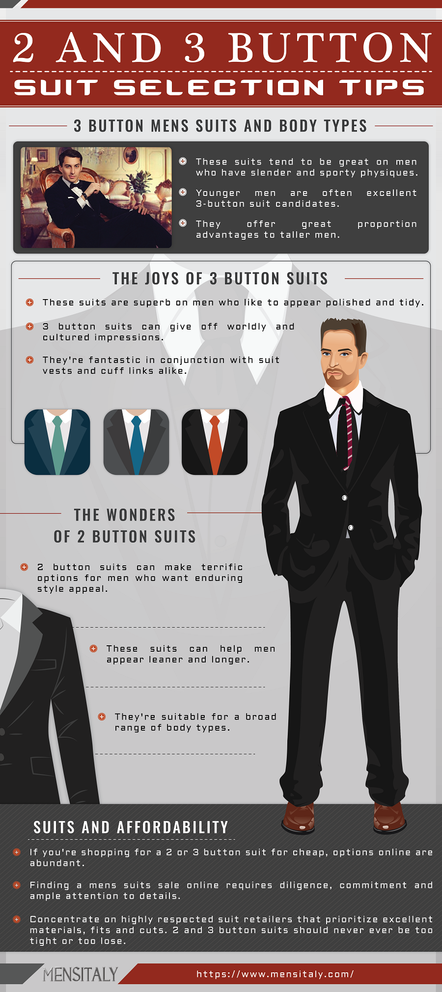 2-3 Button Suit Selection Tips Mens Fashion Infographics discount mens suits cheap sale