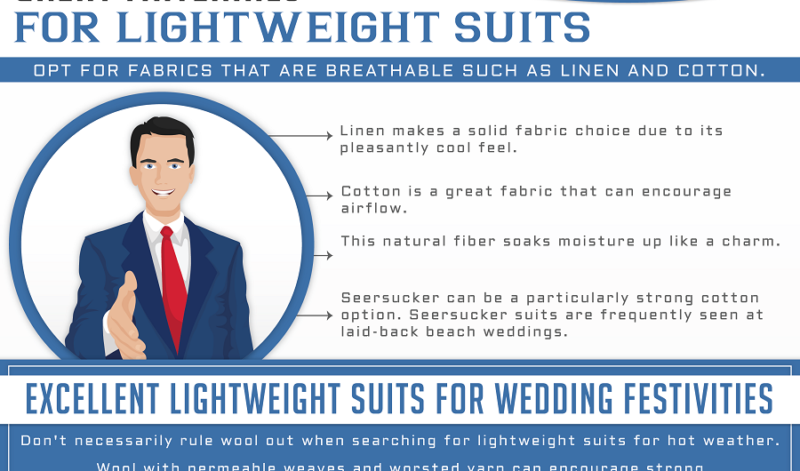 lightweight summer suit shopping tips mens fashion infographics