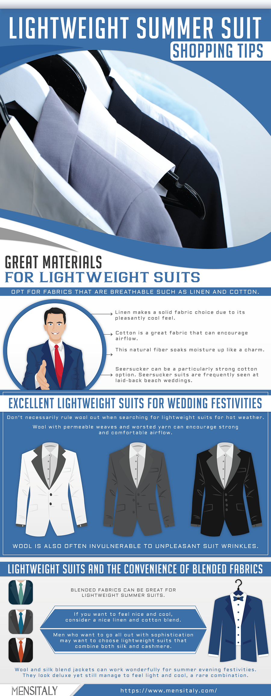Lightweight Summer Suits For All Occasions @Mensitaly