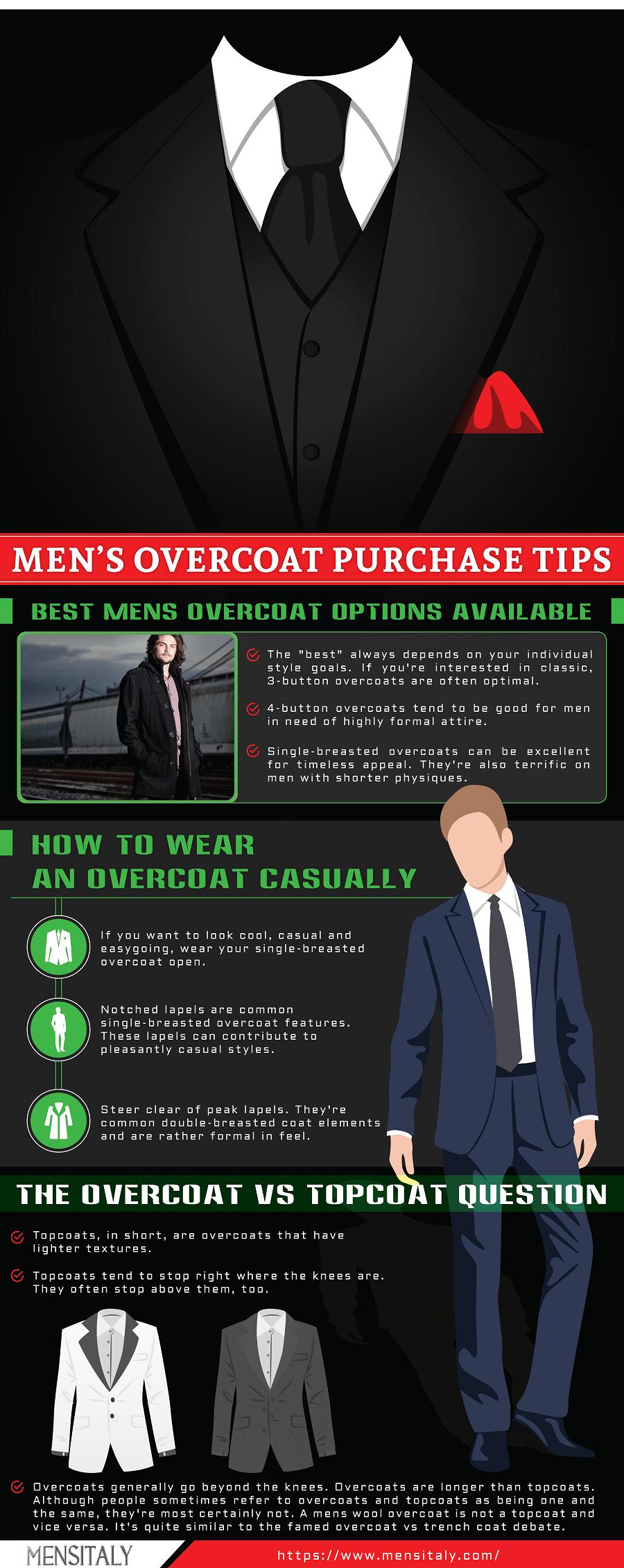 mens overcoat purchase tips men's fashion infographics