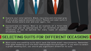 suits for any occasion mens fashion infographics