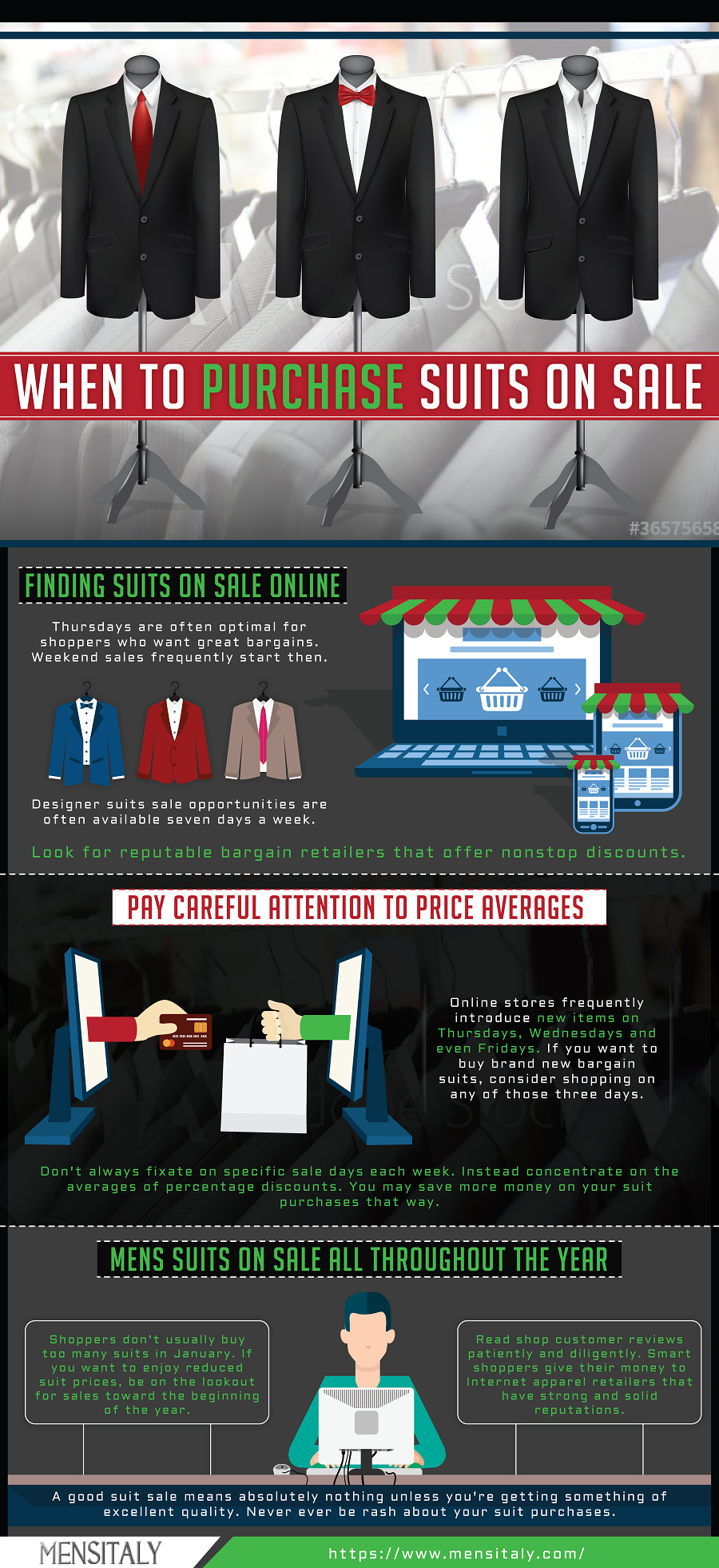 when to buy purchase suit on sale mens fashion infographics cheap discount suits