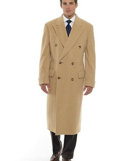 double breasted camel overcoat top coat cashmere wool beige khaki