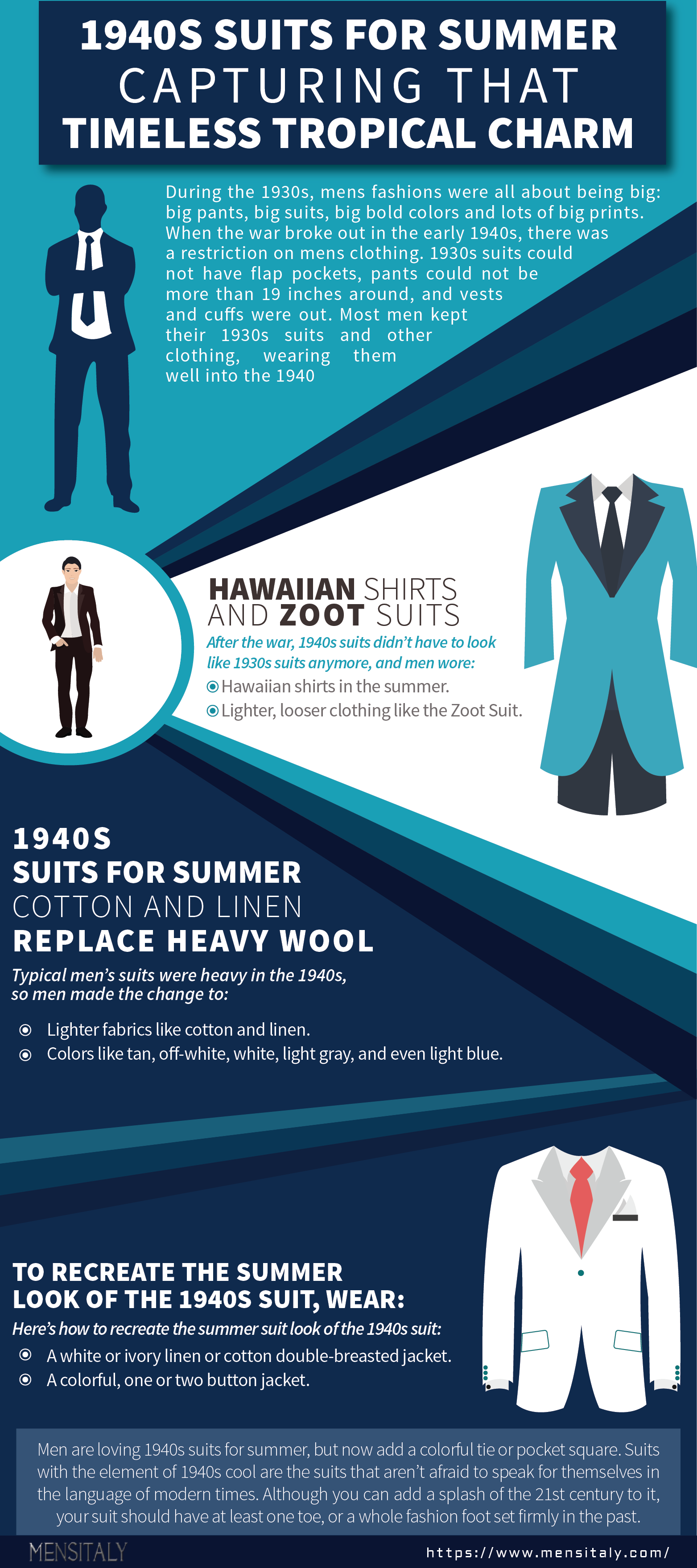 1940s Suits for Summer - Capturing That Timeless Tropical Charm