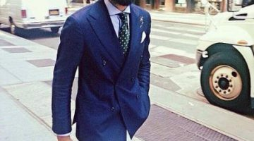 Double Breasted Easter Suit Navy Blue Suit