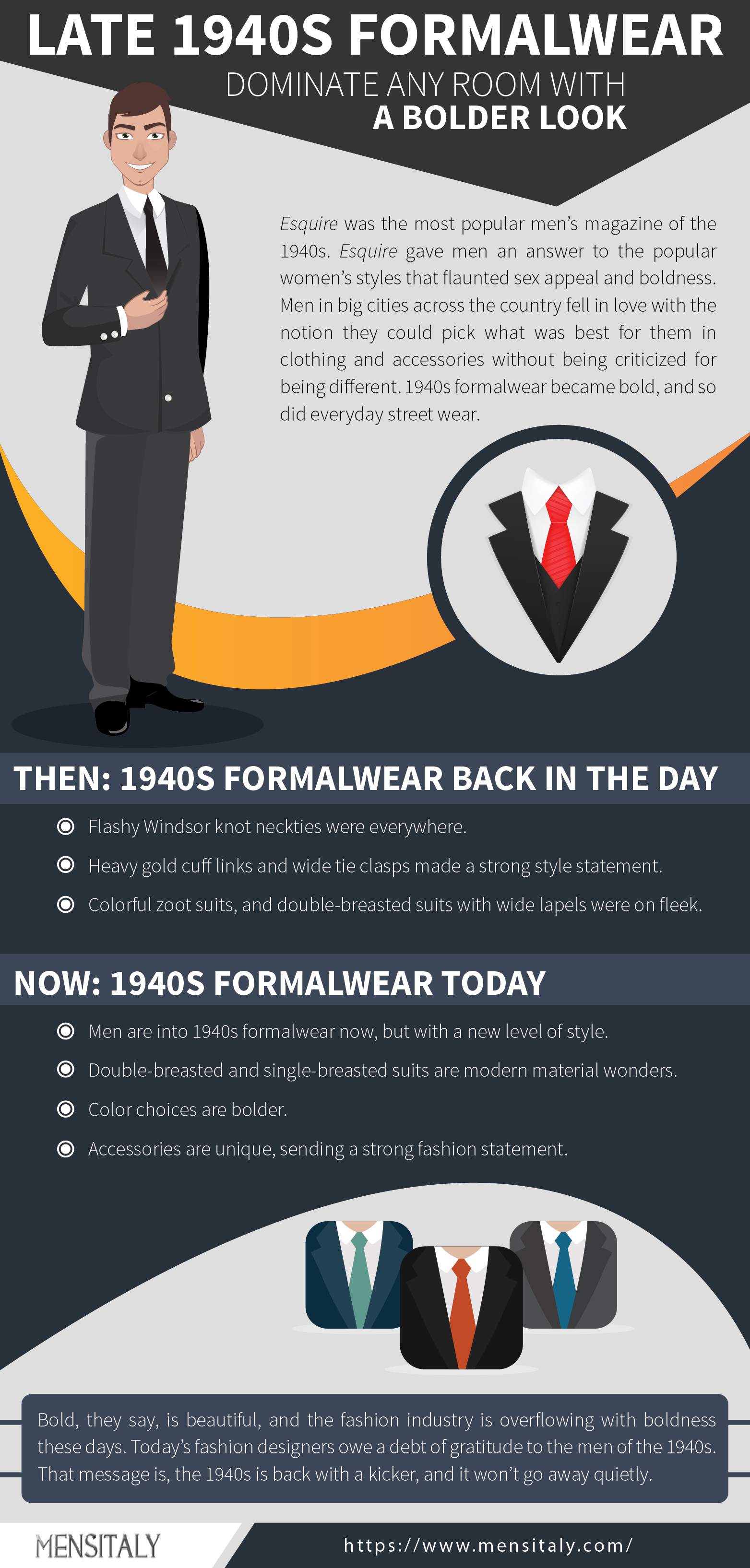 Late 1940s Formalwear: Dominate Any Room with a Bolder Look