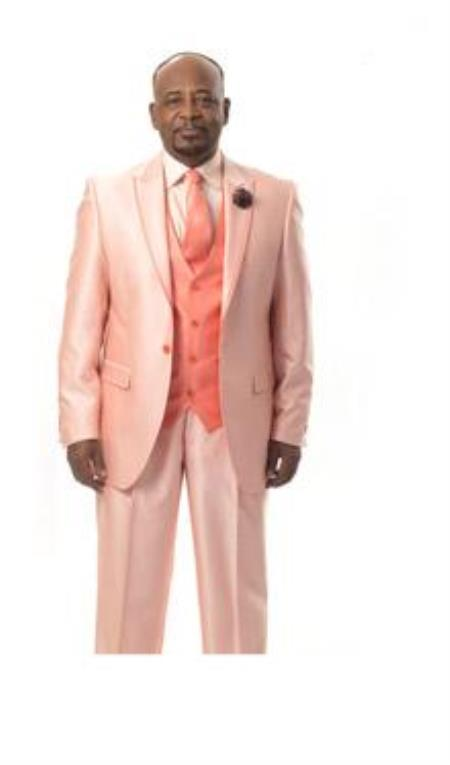 Summer Colors How to Wear a Peach Tuxedo