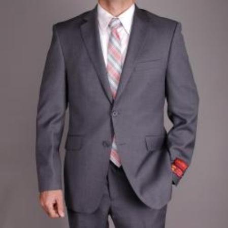 Top Mens Christmas Suit Tips Mantoni Charcoal Gray Color