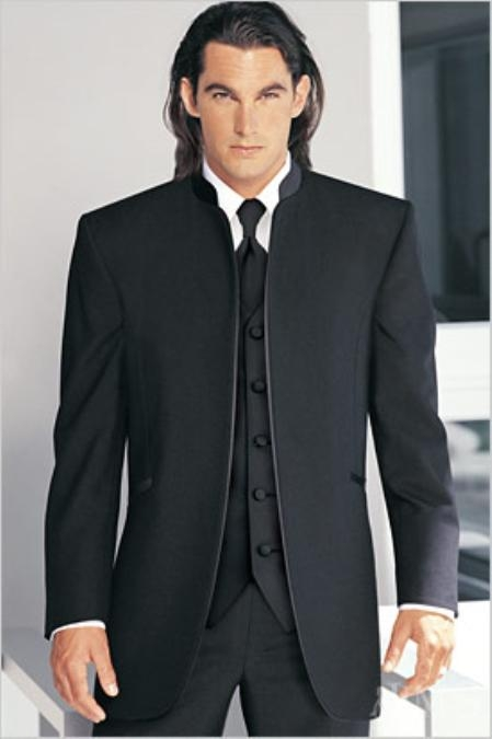 What to Wear for Christmas Tuxedo Slim Fit Black Mens Suits and