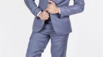 Winter Formal Suits Modern Mens Slim Fit Light Blue